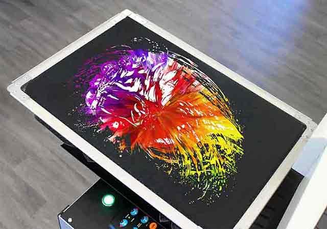 T-shirt-printing-London-UK-Direct-to-garment-multi-colour-phone